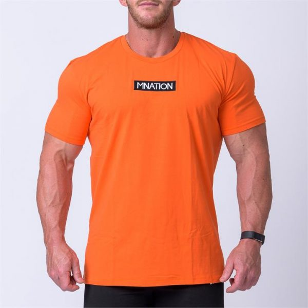Embroidery Tee - Orange - M