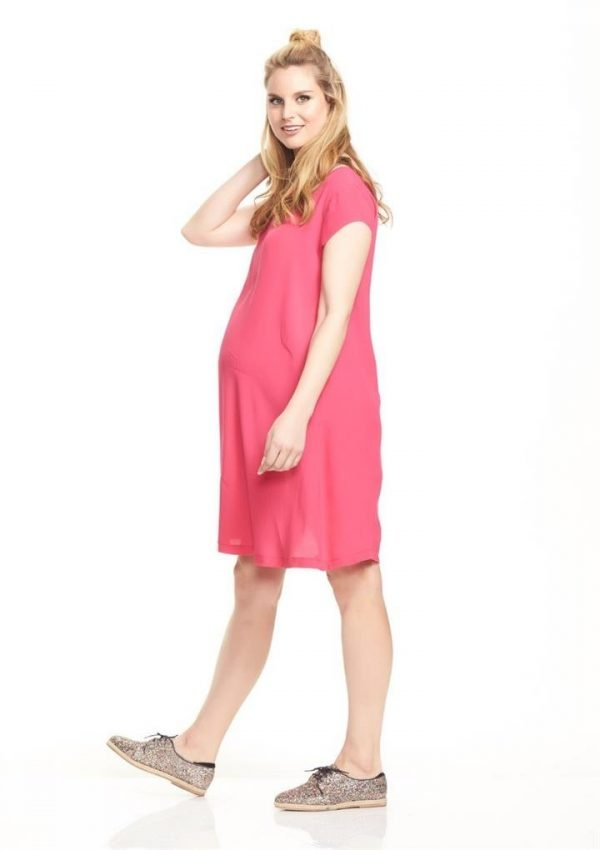 Enza Cap Sleeve Maternity Swing Dress