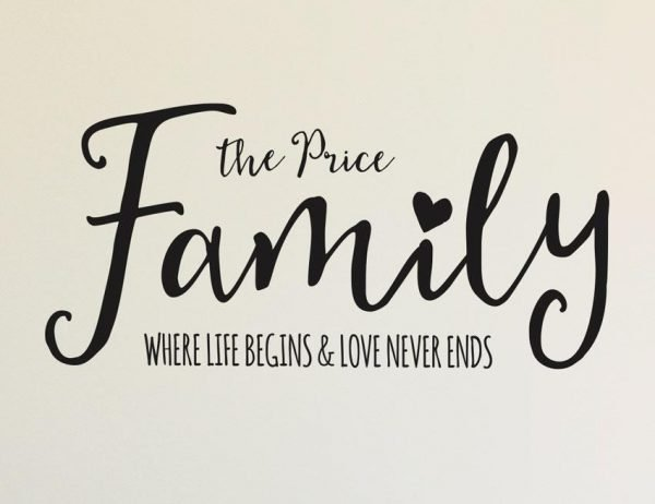 Family Wall Letter Quote