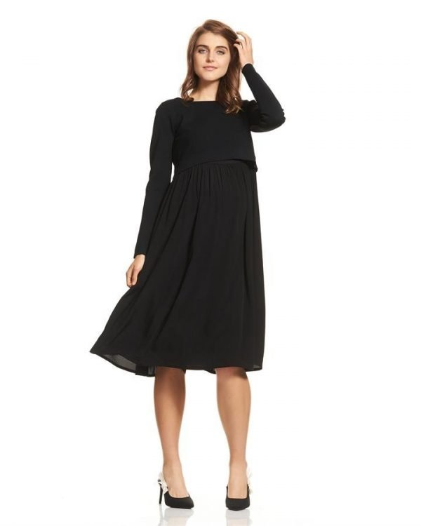 Francis Long Sleeve Maternity Dress