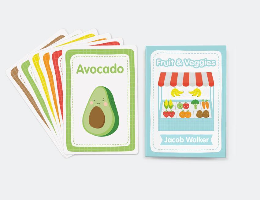 Fruit & Vegetables Flash Cards
