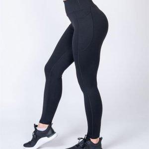 Full Length Pocket Leggings - Black - M