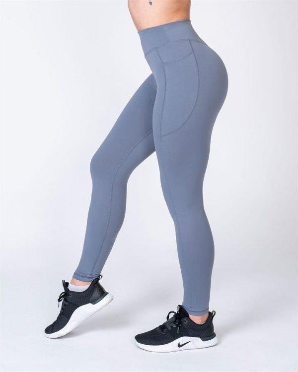 Full Length Pocket Leggings - Stone - L