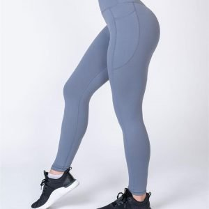 Full Length Pocket Leggings - Stone - XS