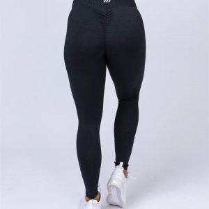 Full Length Scrunch Leggings - Black - XL