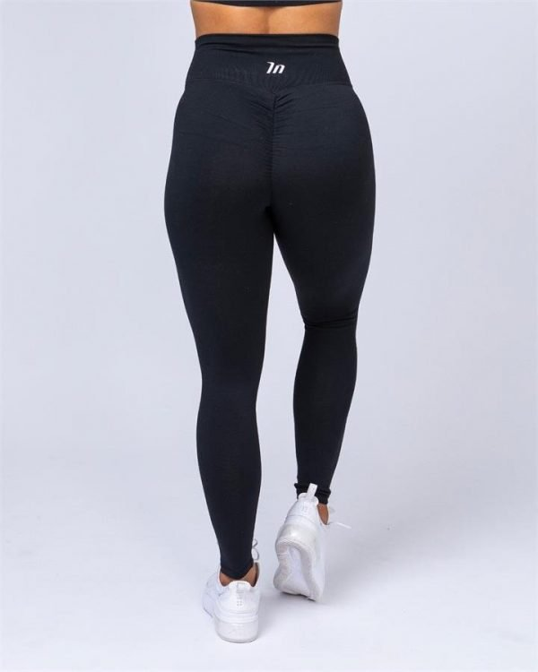Full Length Scrunch Leggings - Black - XL