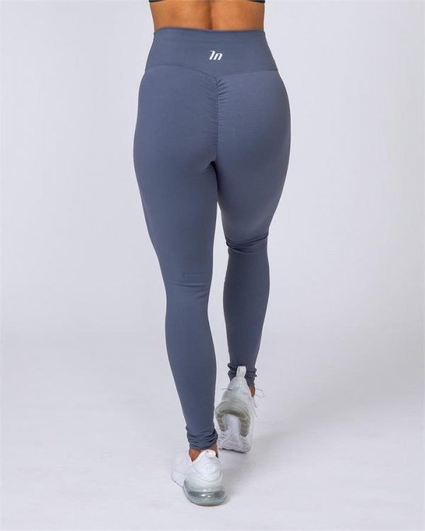 Full Length Scrunch Leggings - Titanium - XL