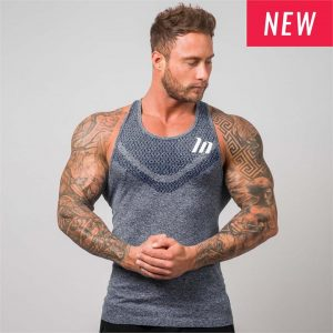 Ghost Seamless Tank - Navy - XL