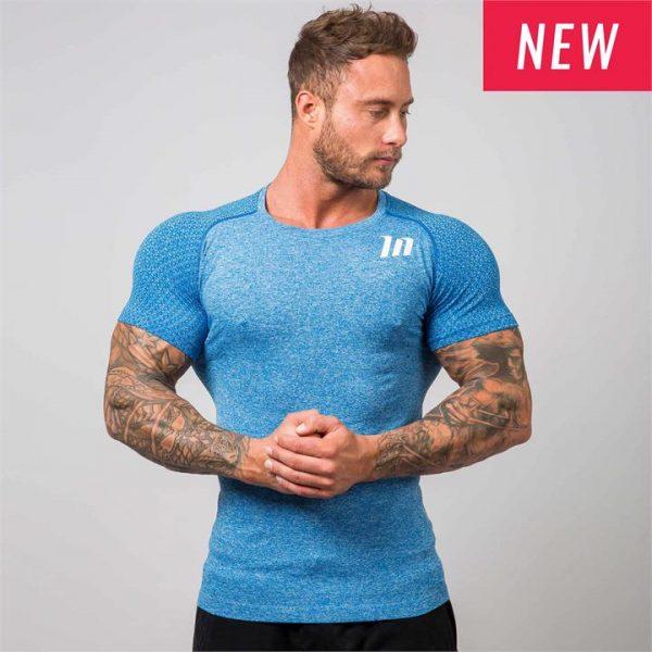 Ghost Seamless Tshirt - Blue - XL