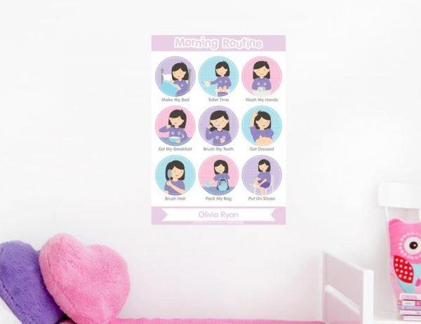 Girl Morning Routine Poster