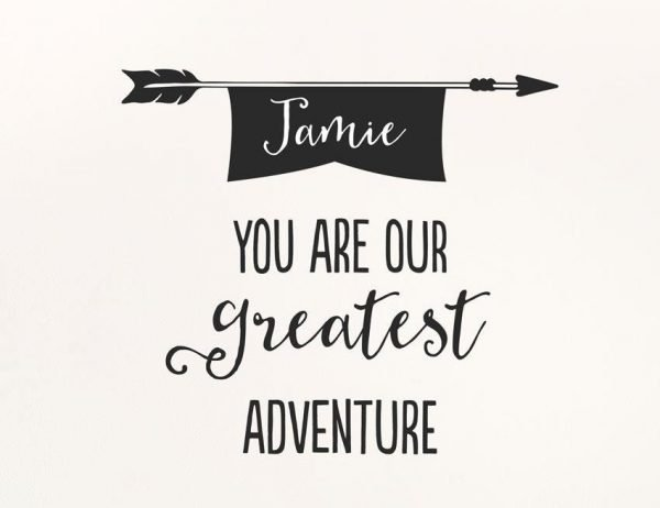 Greatest Adventure Wall Letter Quote