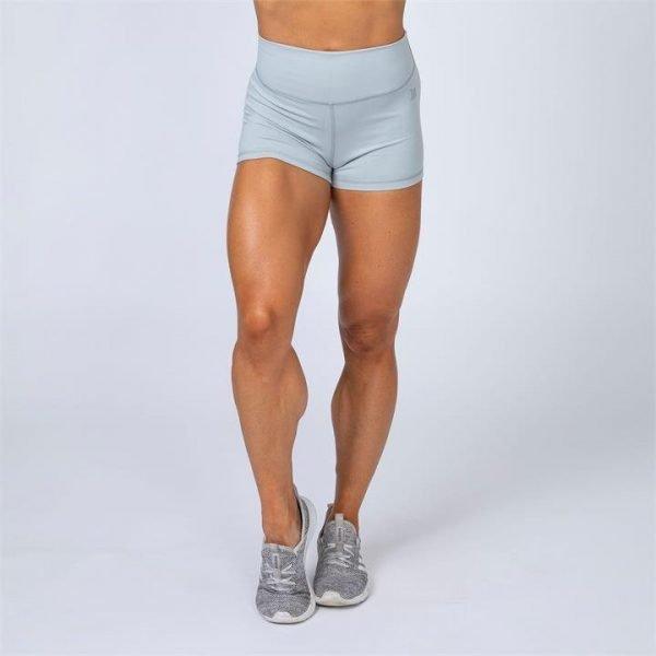 HBxMN High Waist Scrunch Shorts - Light Grey - S