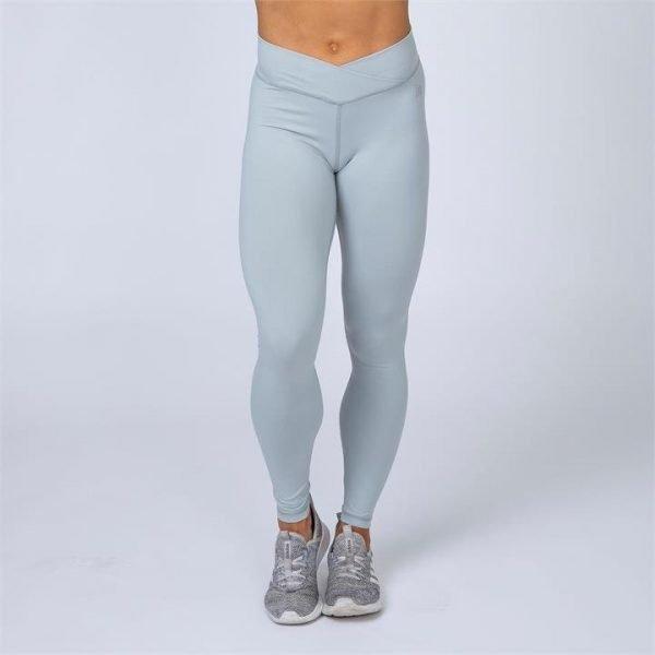 HBxMN V-Style Full Length Scrunch Leggings - Light Grey - L