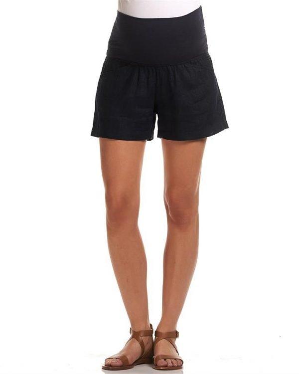 Isabel Linen Maternity Shorts