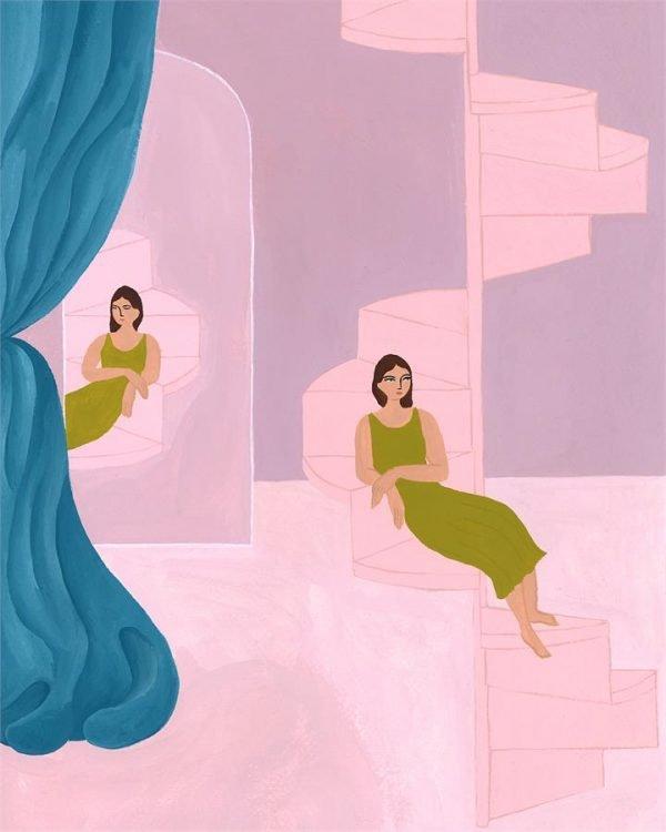 Isabelle Feliu x Bed Threads 'Miroir & Escalier' Print - Bed Threads
