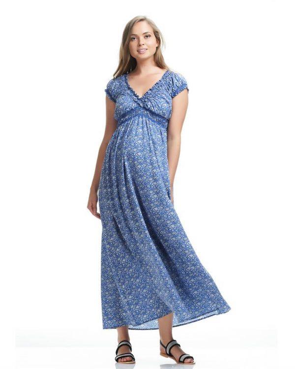 Jess Print Maternity Maxi Dress
