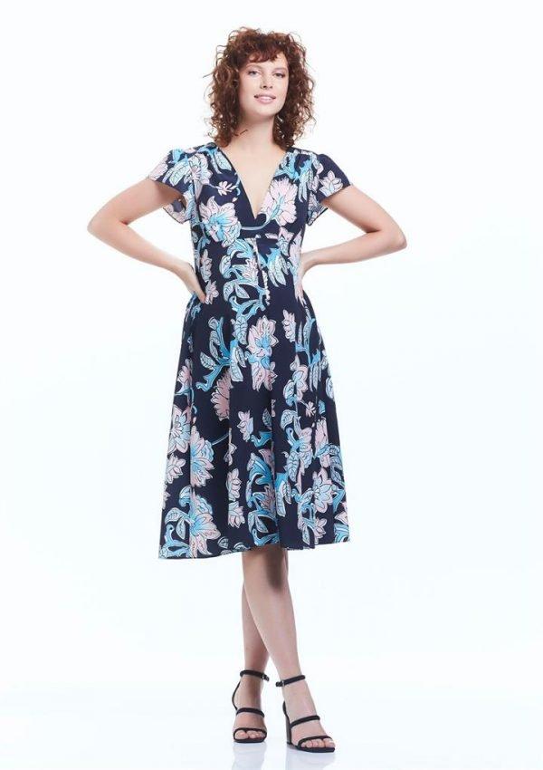 Julianne Midi Maternity Dress