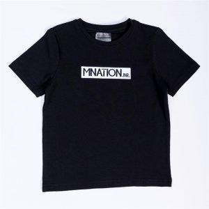 Kids Embroidery Tee - Black - 4