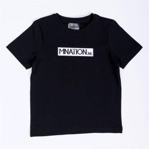 Kids Embroidery Tee - Black - 7