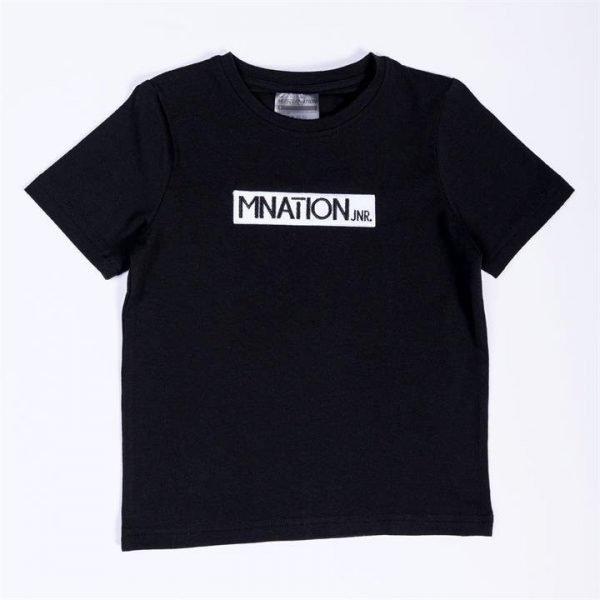 Kids Embroidery Tee - Black - 7