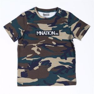 Kids Embroidery Tee - Camo - 8