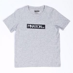 Kids Embroidery Tee - Grey - 8