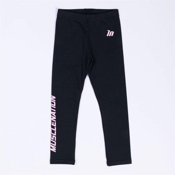 Kids MN Leggings - Black with Pink - 2