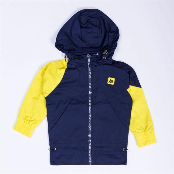 Kids MN Retro Tracksuit Jacket - Navy / Yellow - 7