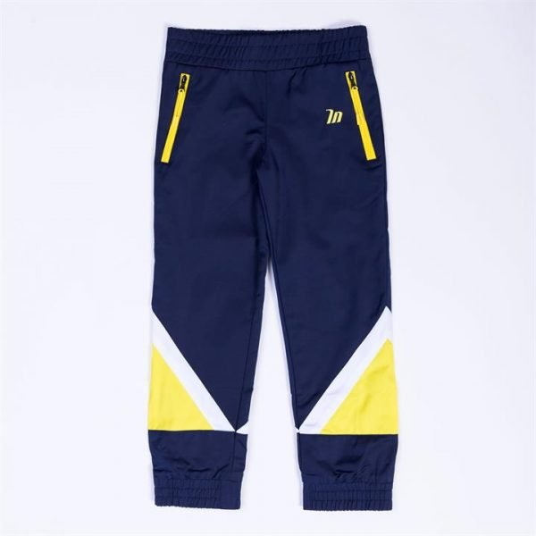 Kids MN Retro Tracksuit Pants - Navy / Yellow - 2