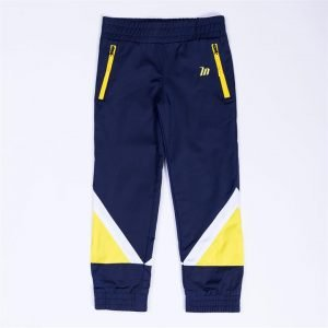 Kids MN Retro Tracksuit Pants - Navy / Yellow - 3