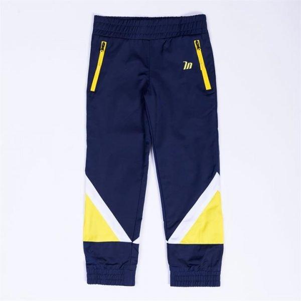 Kids MN Retro Tracksuit Pants - Navy / Yellow - 3
