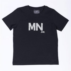 Kids MN Tee - Black / Snow Leopard - 8