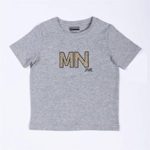 Kids MN Tee - Grey / Leopard - 3