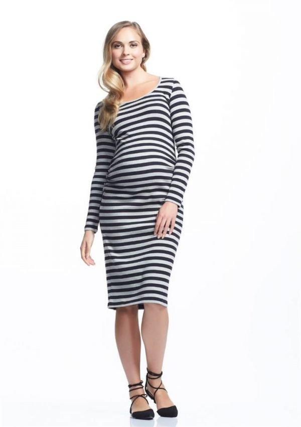 Krish Long Sleeve Maternity Dress