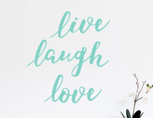 Live, Laugh, Love Wall Letter Quote