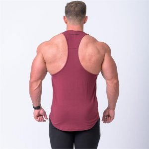 MN Y Back Singlet - Burgundy - XL