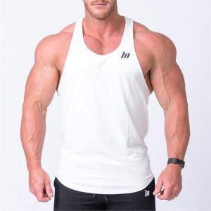 MN Y Back Singlet - White - L