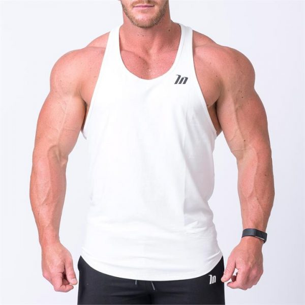 MN Y Back Singlet - White - XL