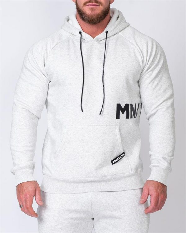 MNation Hoodie - White Marl - S