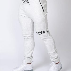 MNation Tapered Joggers - White Marl - M