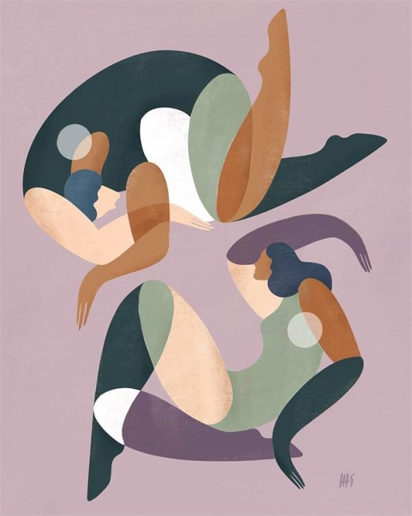 Maggie Stephenson x Bed Threads 'Balance' Print - Bed Threads