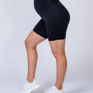 Maternity Bike Shorts - Black - XS