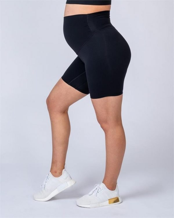 Maternity Bike Shorts - Black - XXL