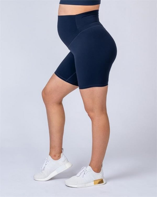 Maternity Bike Shorts - Navy - L