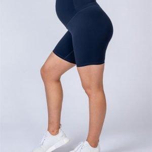 Maternity Bike Shorts - Navy - XS