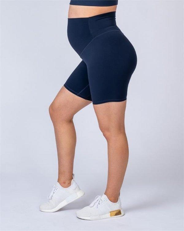 Maternity Bike Shorts - Navy - XXL