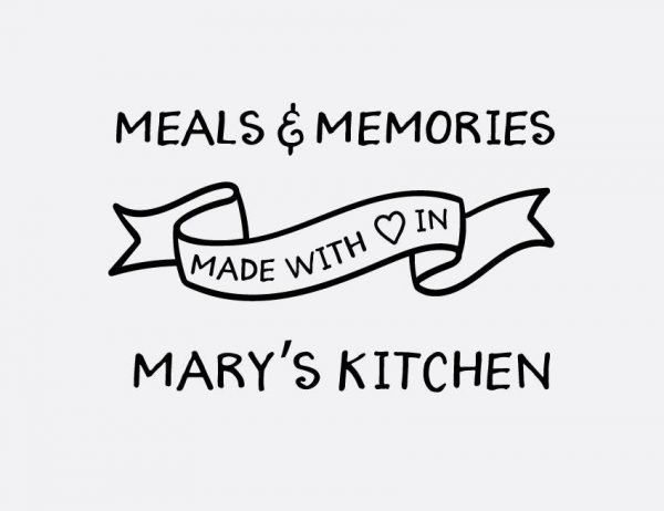 Meals & Memories Wall Letter Quote