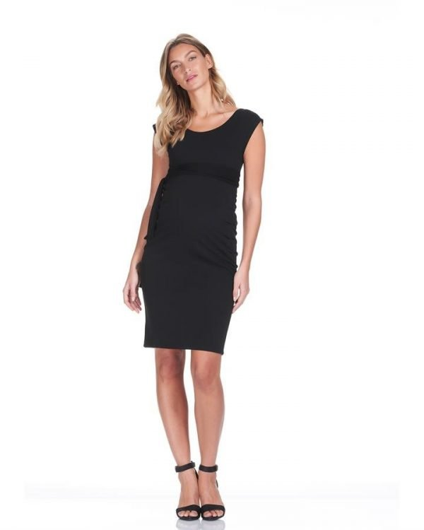 Megan Pin Tuck Maternity Dress