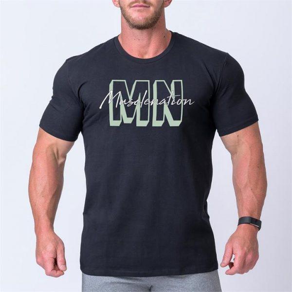 Mens Casual MNxSignature Tee - Black - XXL