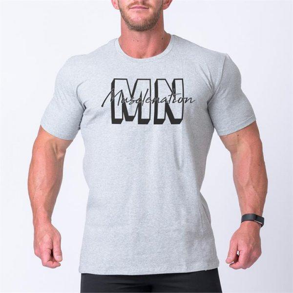 Mens Casual MNxSignature Tee - Grey - L